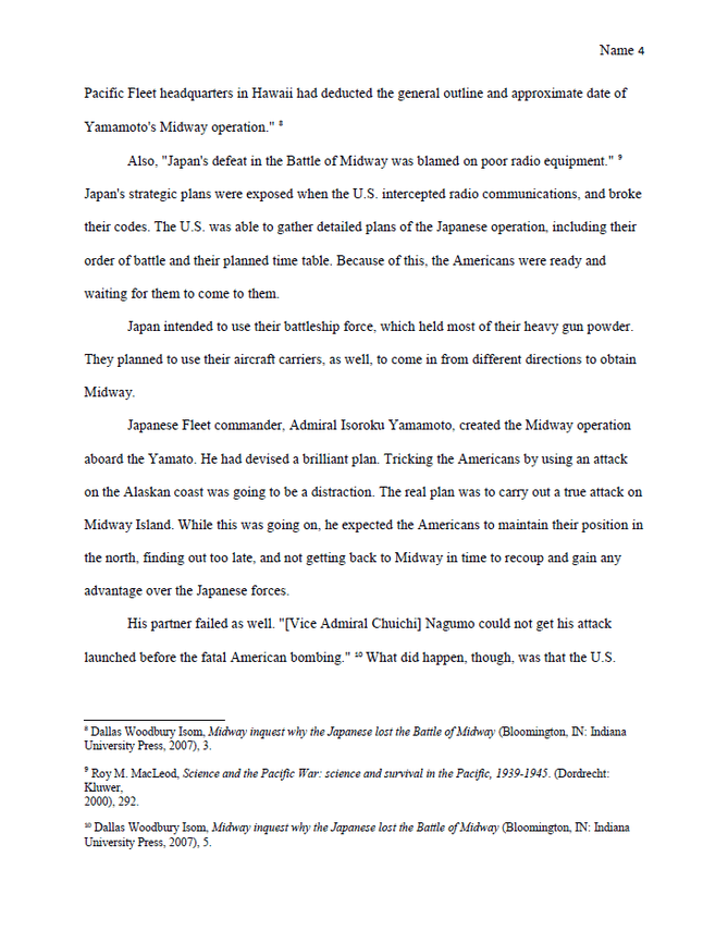 Turabian Style Footnote Page